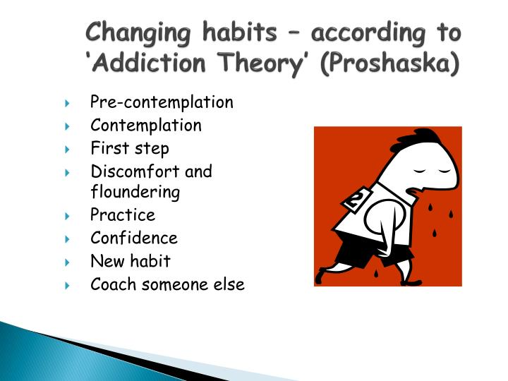 Changing habits – according to 'Addiction Theory' (