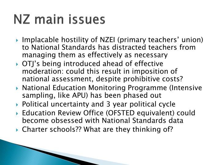 NZ main issues