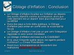 ciblage d inflation conclusion