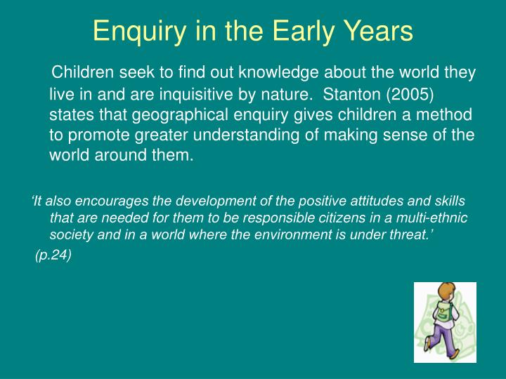 enquiry in the early years n.