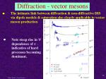 diffraction vector mesons