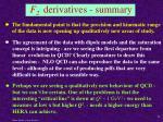 f 2 derivatives summary