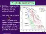 f 2 its derivatives
