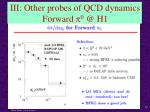 iii other probes of qcd dynamics forward p 0 @ h1