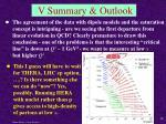 v summary outlook