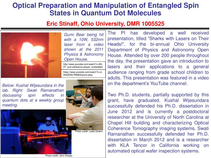 Optical Preparation and Manipulation of Entangled Spin States in Quantum Dot Molecules