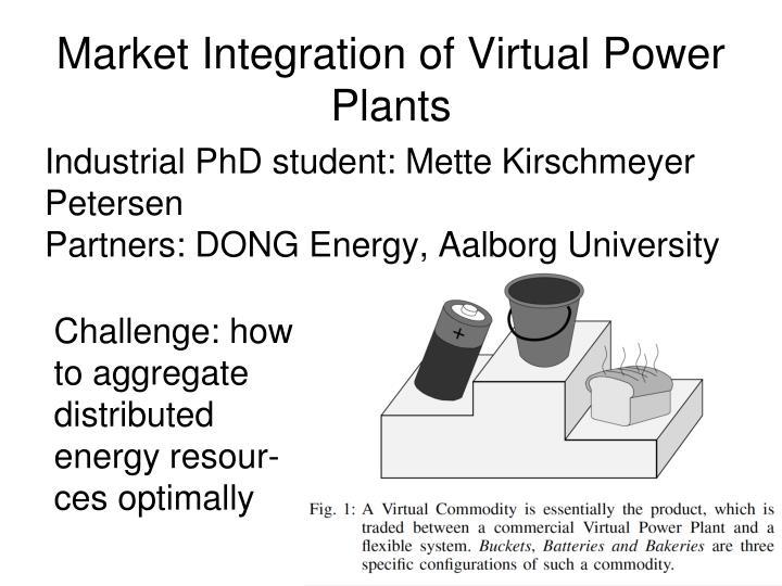 Market Integration of Virtual Power Plants
