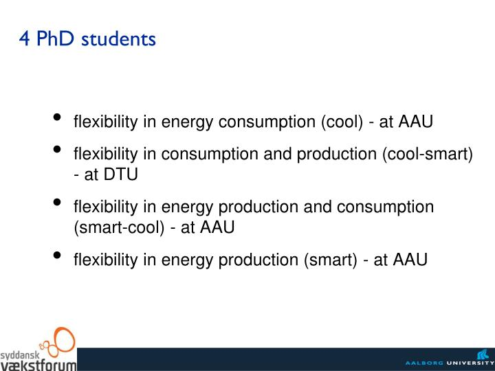 flexibility in energy consumption (cool) - at AAU