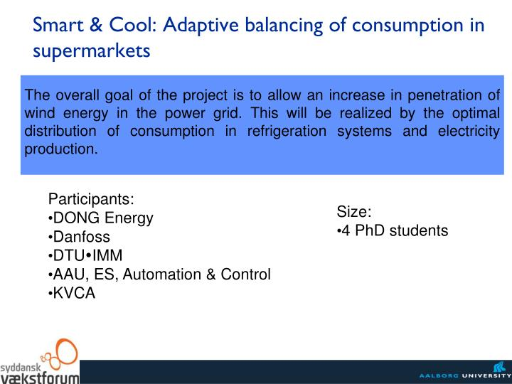 Smart & Cool: Adaptive balancing of consumption in supermarkets