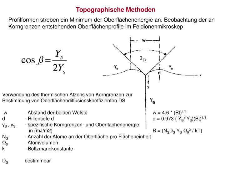 Topographische Methoden