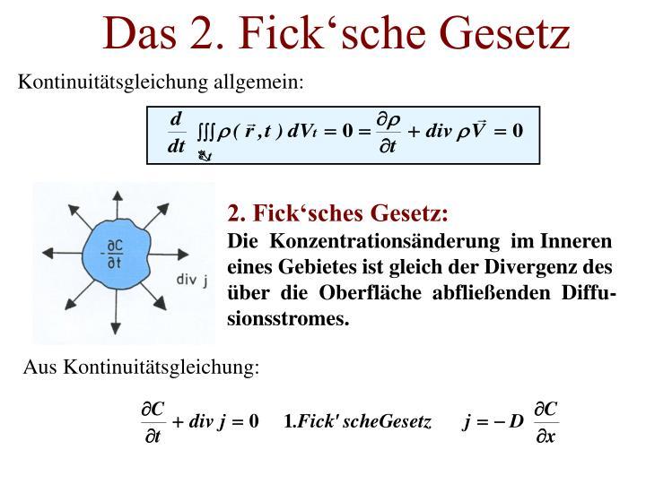 Das 2. Fick'sche Gesetz