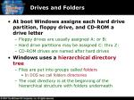 drives and folders