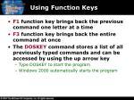 using function keys