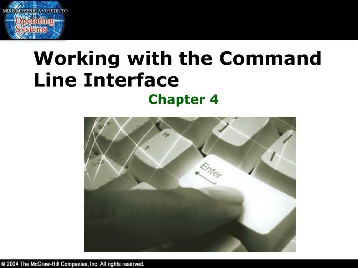 working with the command line interface
