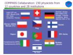 compass collaboration 230 physicists from 12 countries and 28 institutions