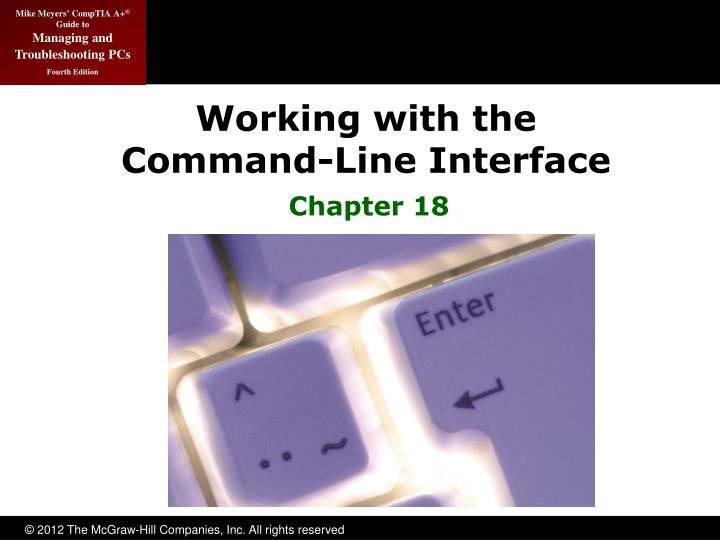 working with the command line interface n.