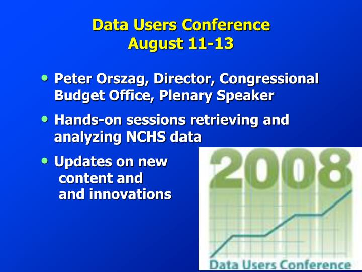 Data users conference august 11 13