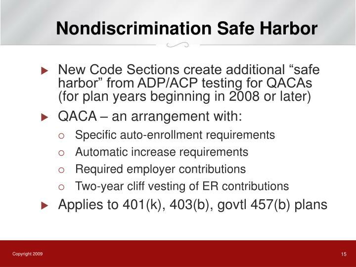 Nondiscrimination Safe Harbor