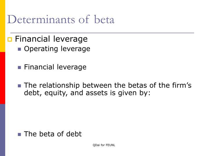 Determinants of beta