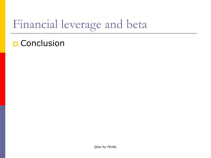 Financial leverage and beta