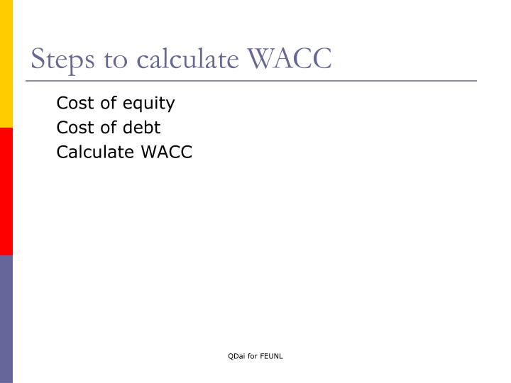 Steps to calculate WACC