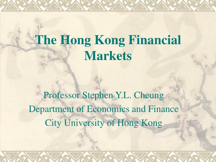 the hong kong financial markets n.