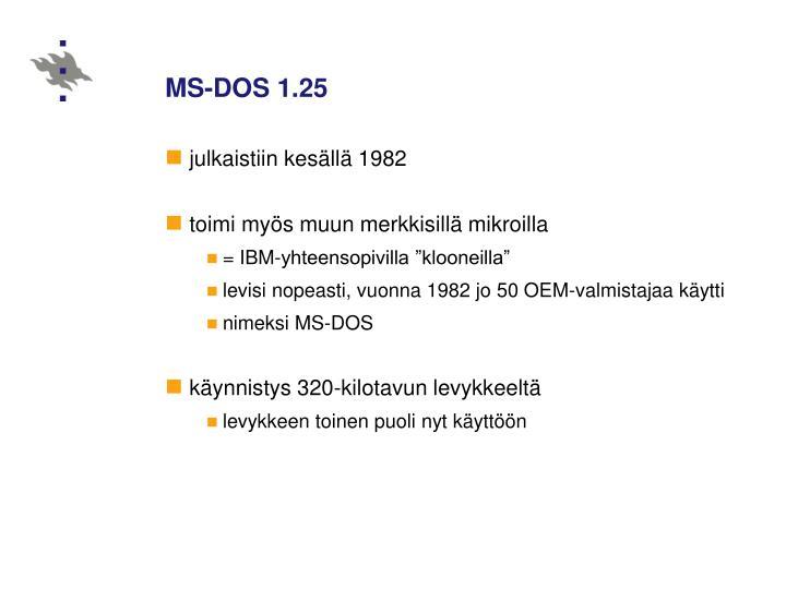 MS-DOS 1.25
