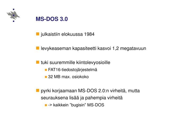 MS-DOS 3.0
