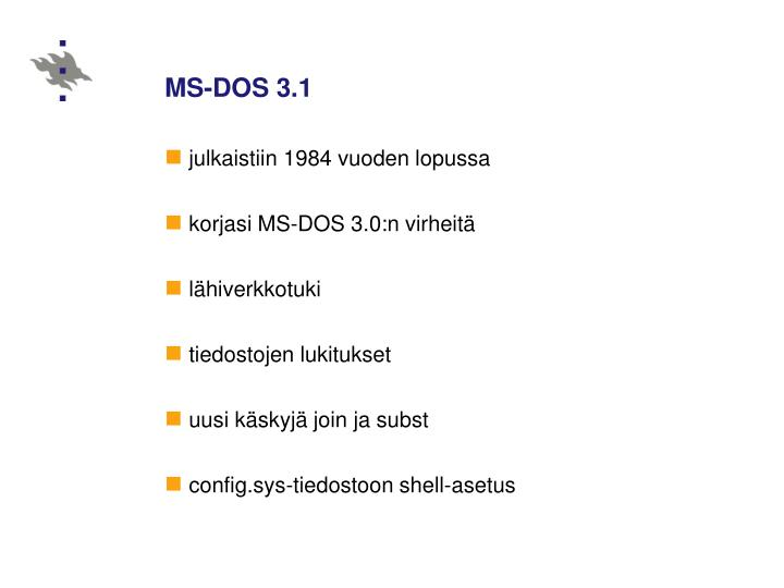 MS-DOS 3.1