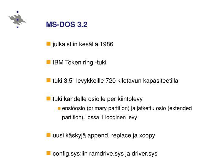 MS-DOS 3.2