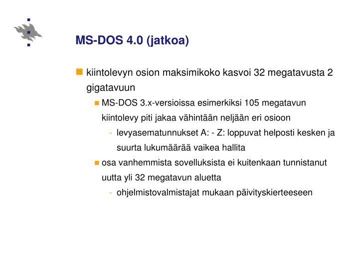 MS-DOS 4.0 (jatkoa)