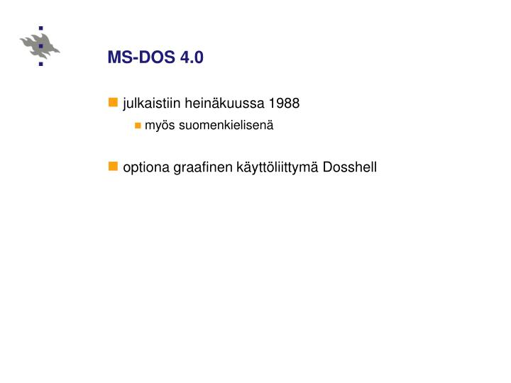 MS-DOS 4.0
