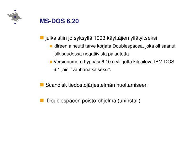 MS-DOS 6.20