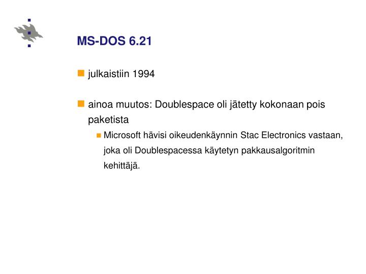 MS-DOS 6.21