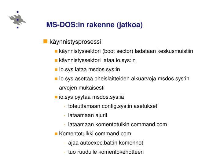 MS-DOS:in rakenne (jatkoa)