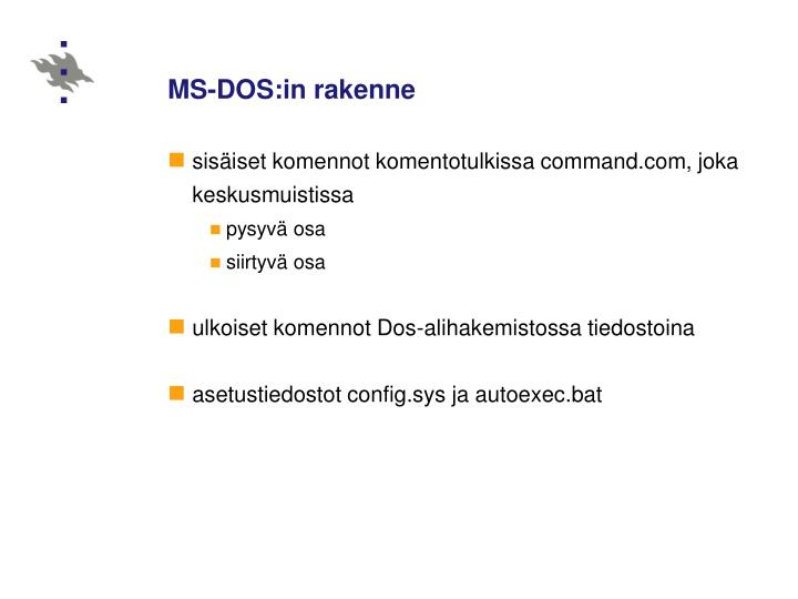 MS-DOS:in rakenne