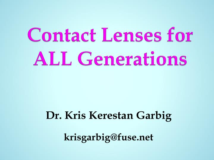 contact lenses for all generations n.