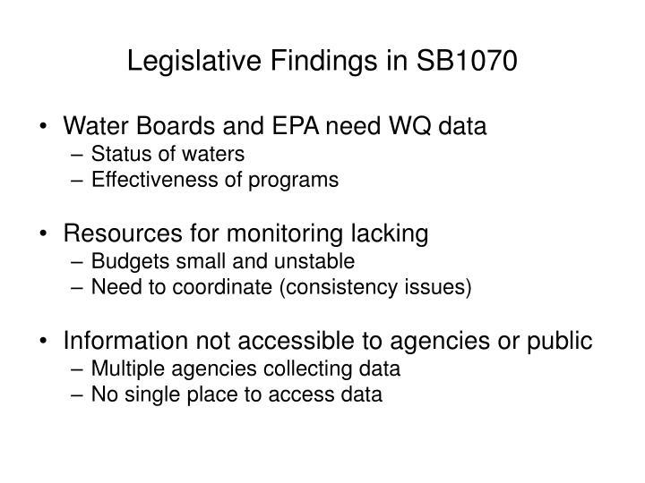 Legislative findings in sb1070