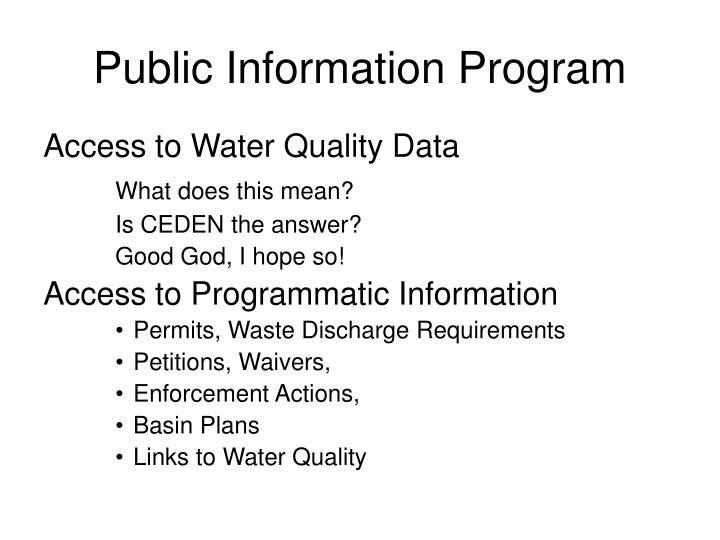 Public Information Program