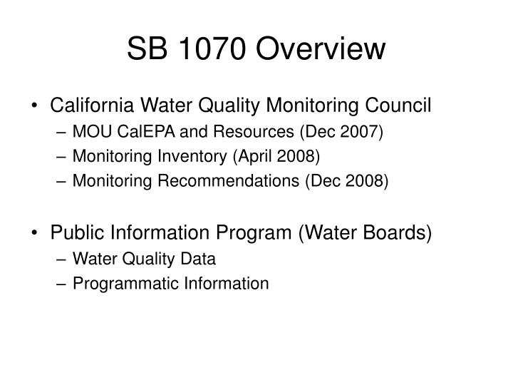 Sb 1070 overview