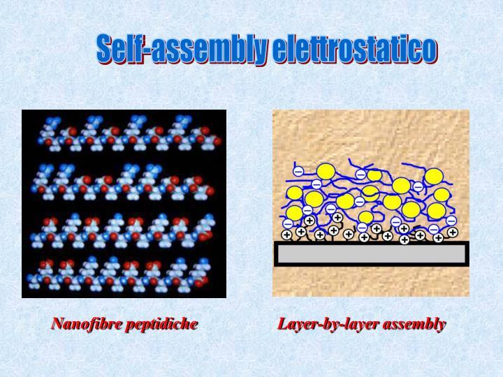 Self-assembly elettrostatico