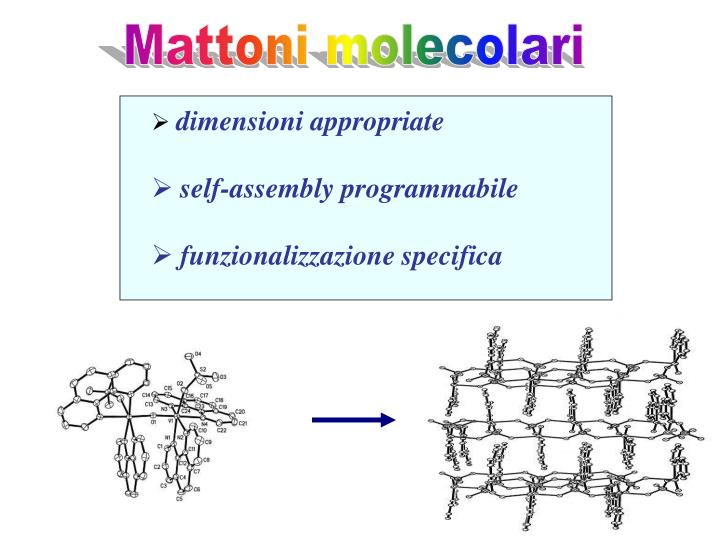 Mattoni molecolari
