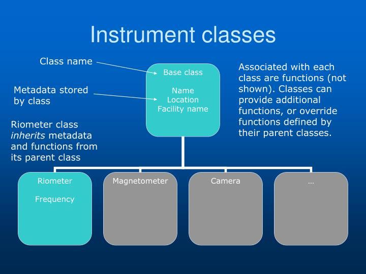 Instrument classes
