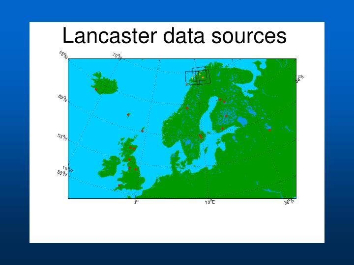 Lancaster data sources