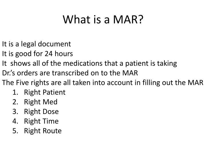 What is a mar