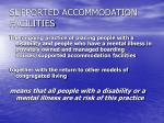 supported accommodation facilities