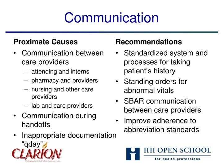 Communication between care providers