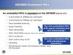 hd3000 embedded mcu