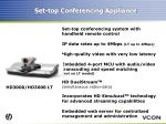 set top conferencing appliance