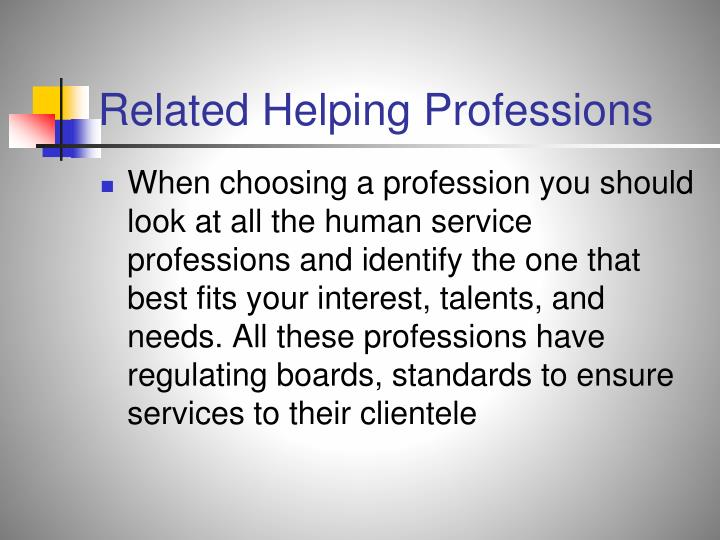 Related Helping Professions